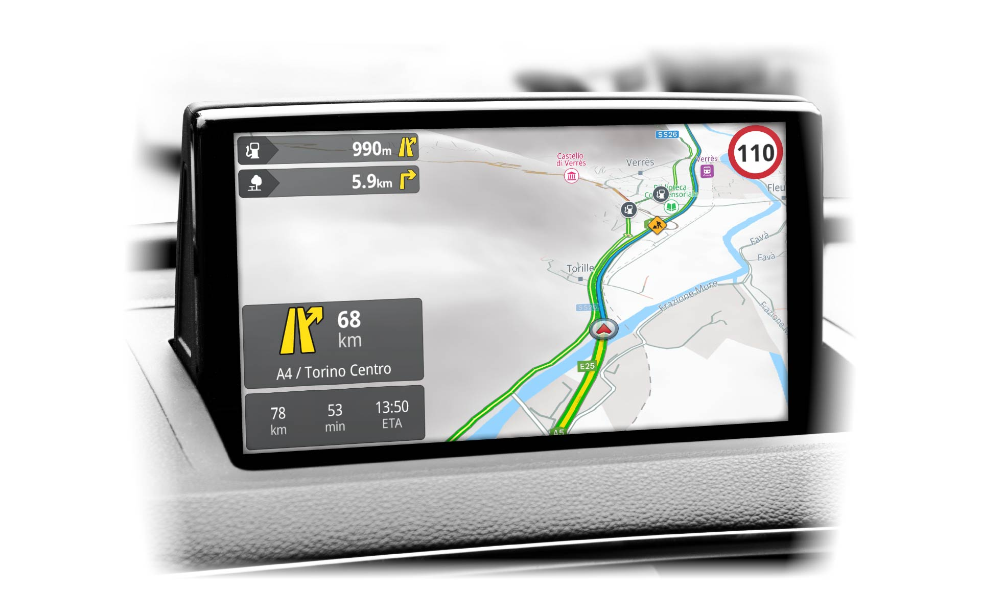 Mireo GPS navigation solutions provide global HERE maps of more than 130 countries, including China, Japan, South Korea, and India.