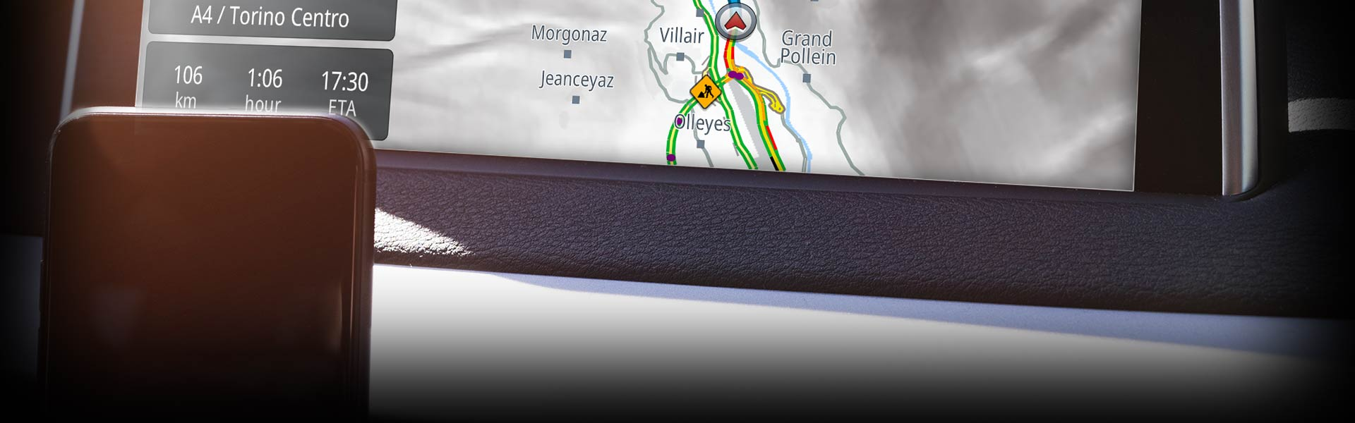 Genius Maps GPS navigation app lets you connect to the in-car infotainment systems of certain brands of cars.
