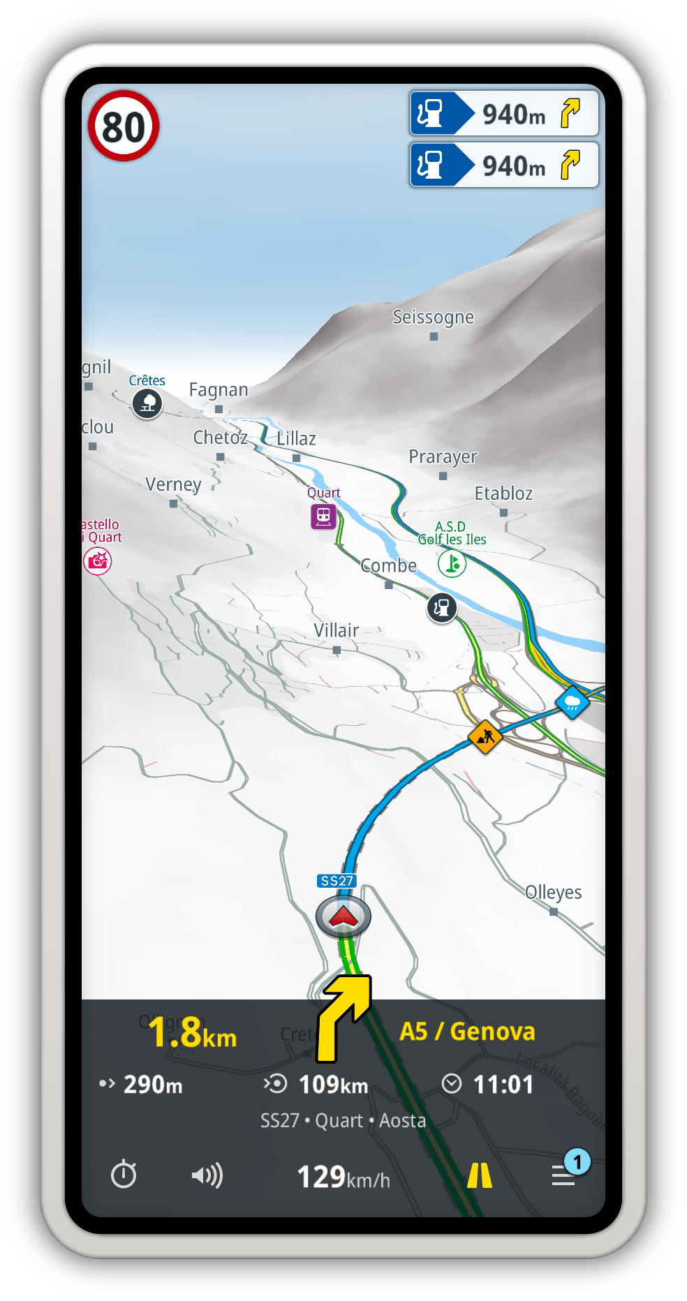 A premium offline GPS navigation app with free professional maps.
